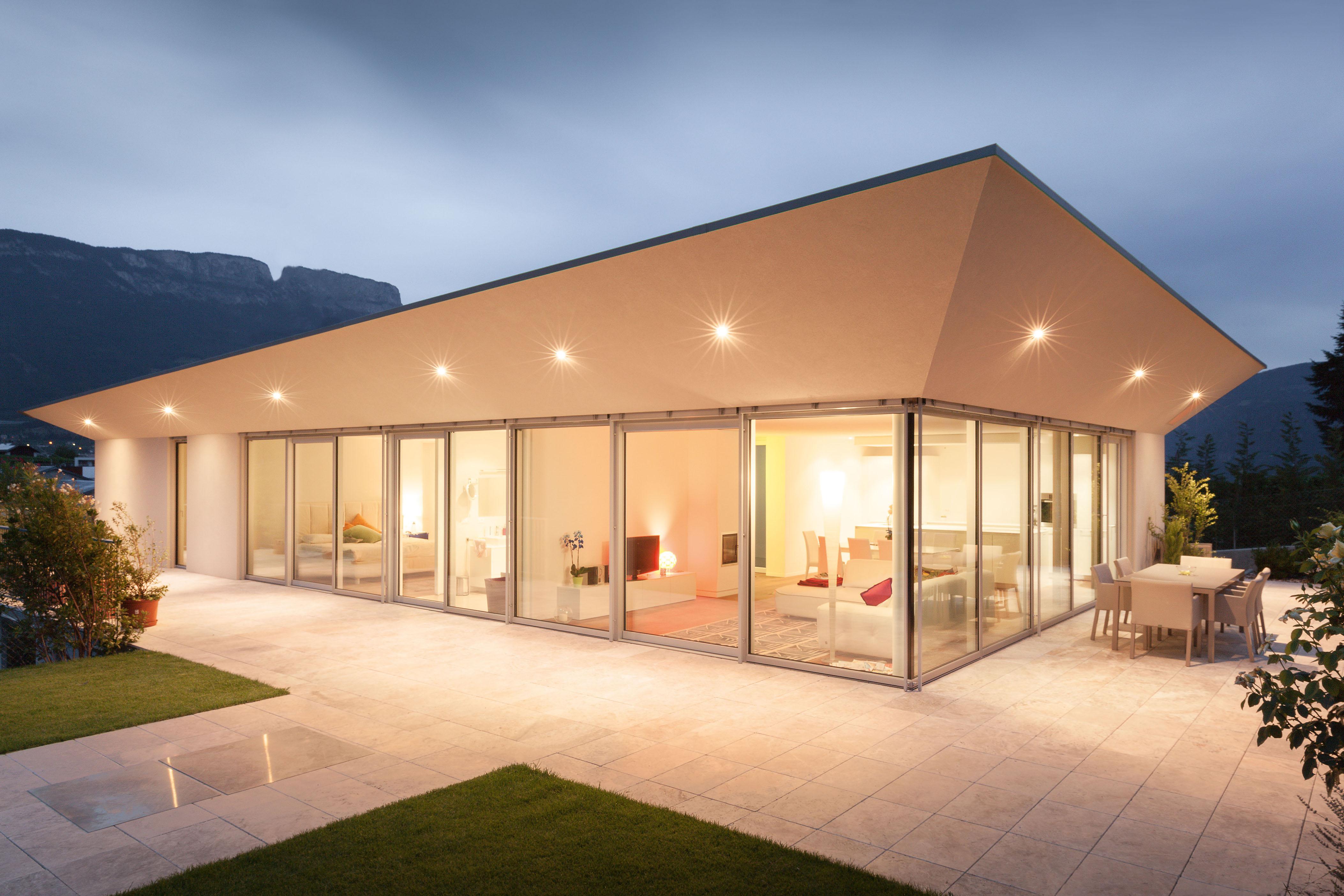 Vetreria basile - Case moderne con vetrate ...